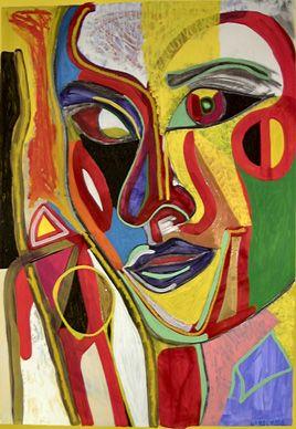 Famous+Abstract+Art | Nouveau Totem, abstract art by Marten Jansen ...