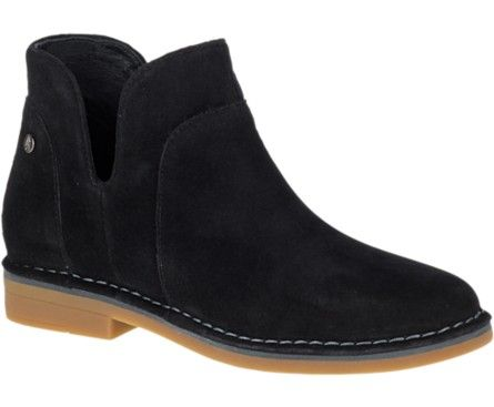 Hush Puppies Claudia Catelyn With Images Boots Black Suede Ankle Boots Suede Ankle Boots