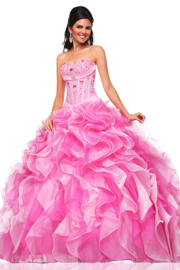 2015 Bicolor Quinceanera Dresses Sweetheart Ball Gown Beaded Bodice Floor-Length