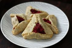 Cranberry and White Chocolate Hamentashen