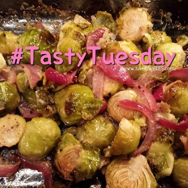 """Brussel Sprouts = """"mini cabbages"""". Check out my recipe @  http://tinyurl.com/JulieJEWELS-BrusselsSprouts"""