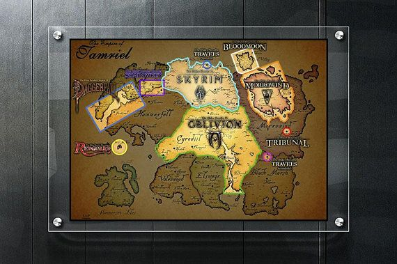 photo about Printable Skyrim Map titled Skyrim map Skyrim poster Elder Scrolls Skyrim wall artwork