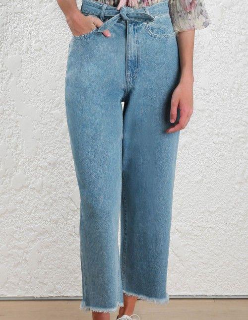 f7e7744bb SUMMER 18 - Zimmermann Tulsi Crop Flare Jean in Denim | MY WORK ...