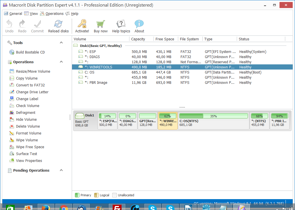 With the enhanced disk partitioning technology, Macrorit