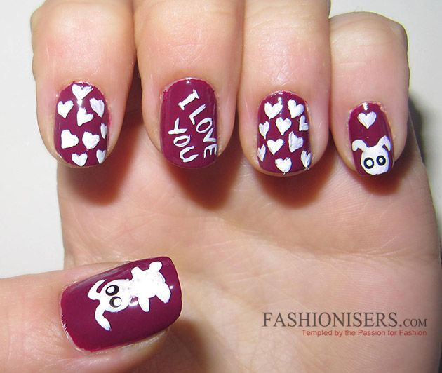 17 Love-Inspired Valentine\'s Day Nail Art Designs That Will Make You ...