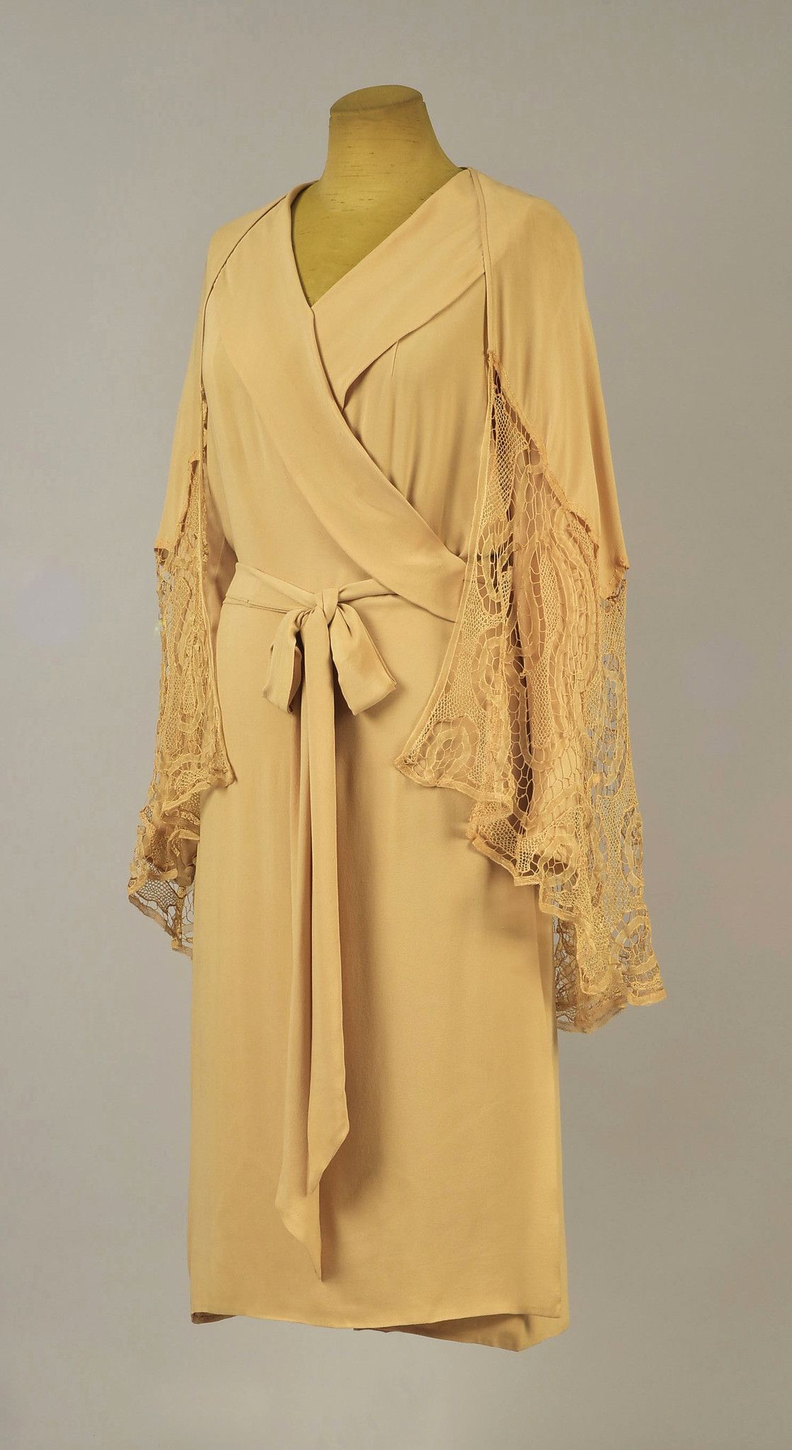Dress silk attributed to jeanne lanvin designer french s