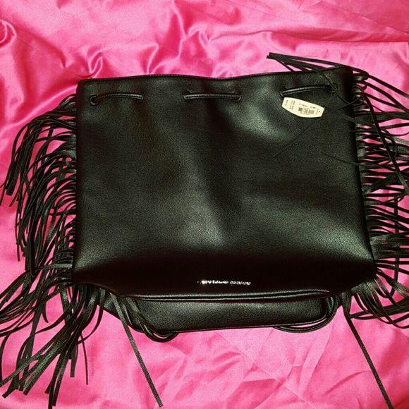 NWT ~ ? Victoria Secret Fringe Purse Drawstring Drawstring backpack cute fringe Victoria Secret Purse Bag. Retail is $85 Victoria's Secret Bags Backpacks