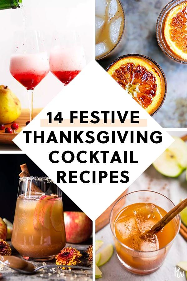 14 Festive Cocktail Recipes to Make This Thanksgiving #thanksgivingdrinksalcohol