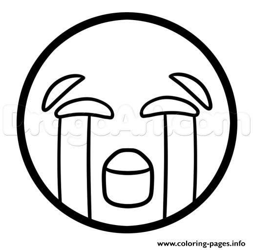 how to draw the crying laughing emoji coloring pages printable and coloring book to print for free find more coloring pages online for kids and adults of - Free Emoji Coloring Pages