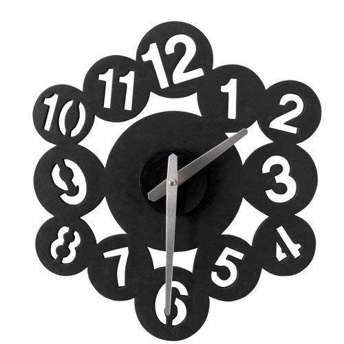 Large Modern Contemporary Black White Diy Digital Wall Clock Diy Clock Wall Clock Wall Clock