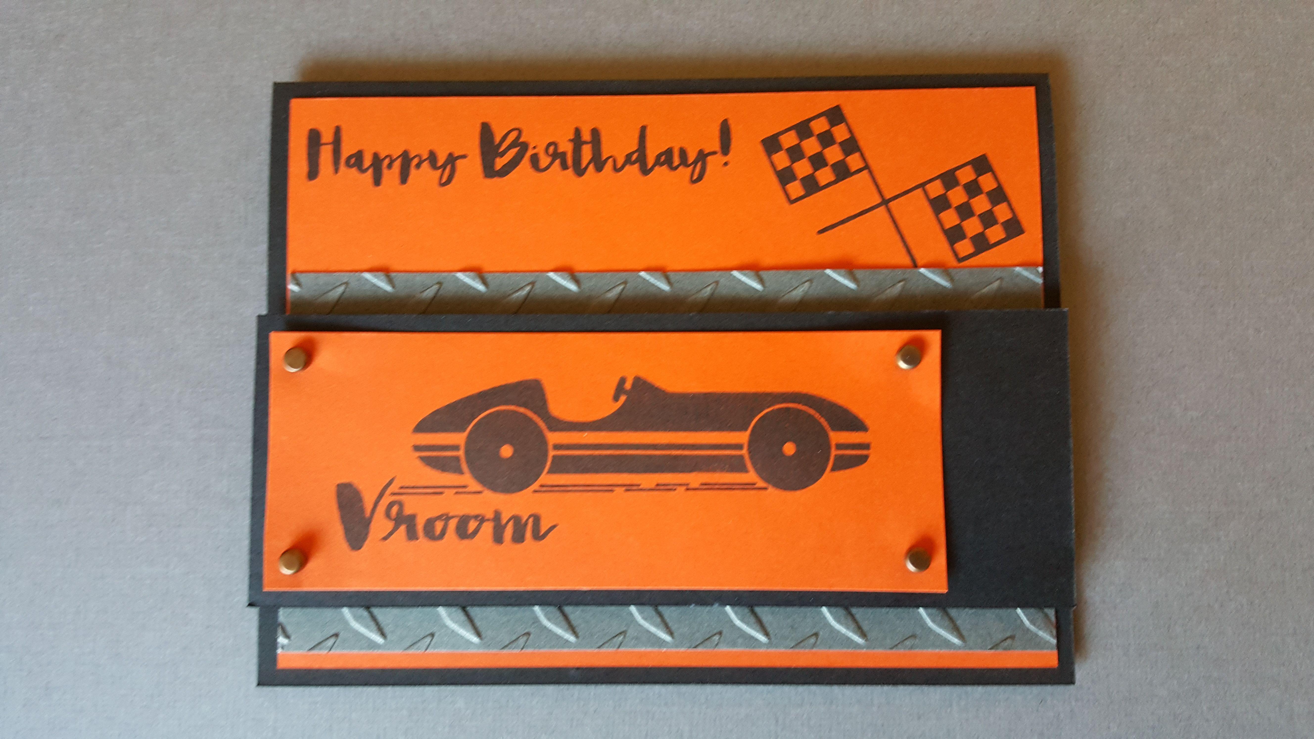 Ctmh racecar birthday occasions stamp set race car