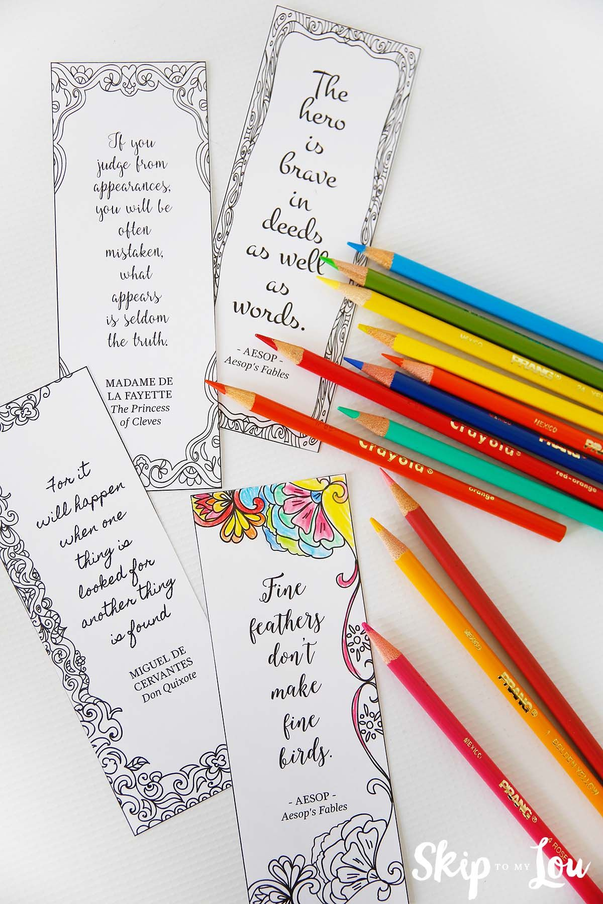 Make These Coloring Bookmarks With Inspirational Quotes To Up Your