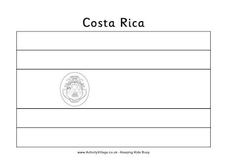 Costa Rica Flag Colouring Page Flag Coloring Pages Costa Rica