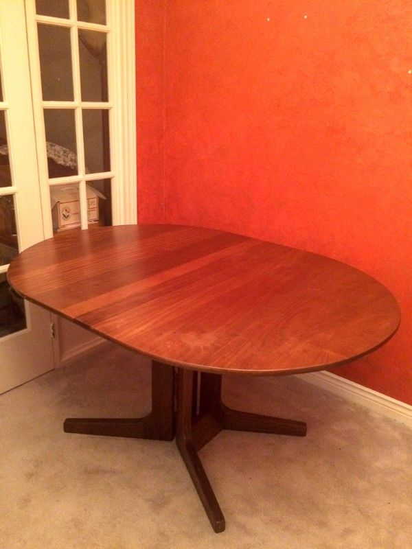 mid century teak dining table with leaf dining tables sets