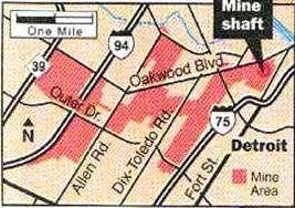 Map of the Detroit salt mine underneath the city | citySCAPE 2 ... Detroit Salt Mines Map on