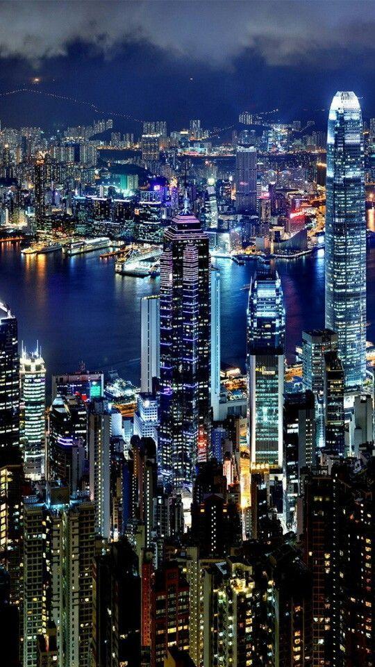4k Iphone X Wallpaper 7d82b421a6cc0727f52070bf945a03b6 4k Hd City Lights At Night Night City Hong Kong Night City lights wallpaper iphone x