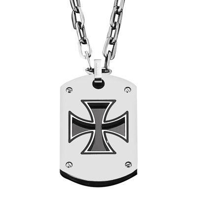 Triton mens stainless steel maltese cross dog tag pendant 22 triton mens stainless steel maltese cross dog tag pendant audiocablefo