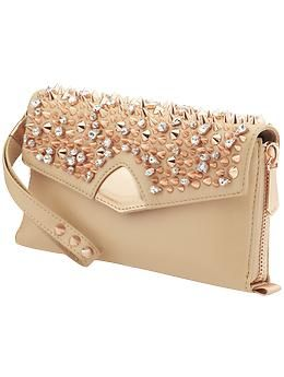 Party Rock: Bring Hollywood to your Girls Weekend with the spiky clutch for Edelman Handbags. No cash neccessary...with this clutch drinks will be handed to you!   Edelman Handbags Hollywood Clutch | Piperlime