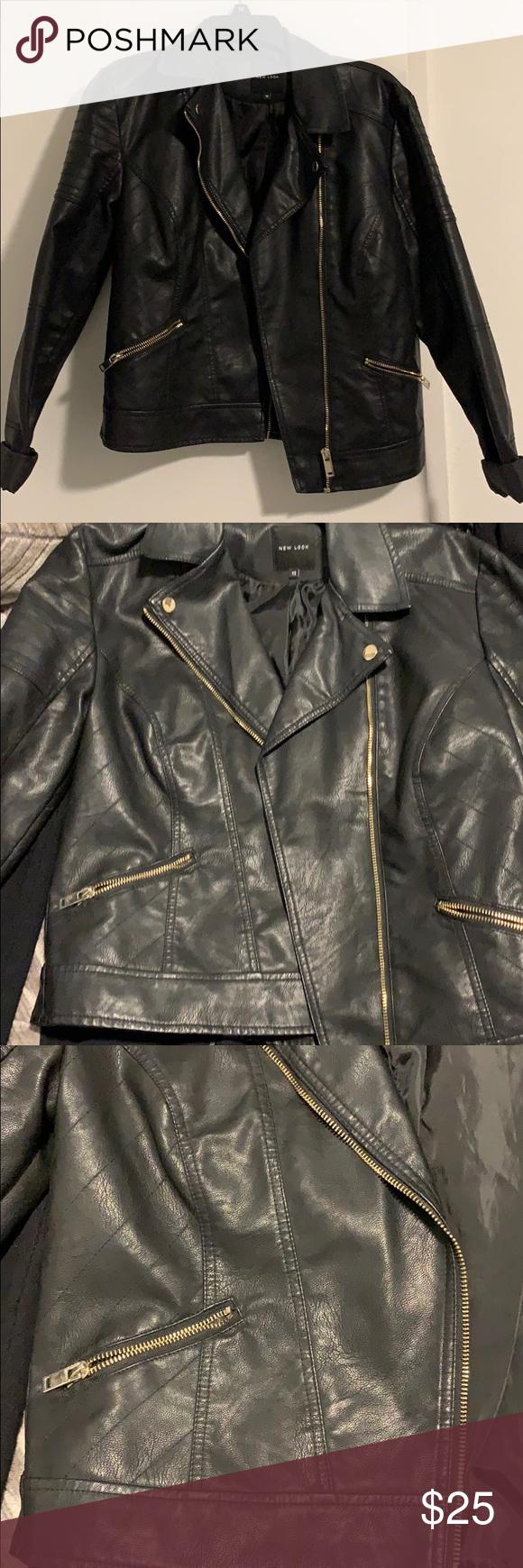 Black Leather Moto Jacket Black Leather Moto Jacket New Look Jackets Leather Moto Jacket [ 1740 x 580 Pixel ]