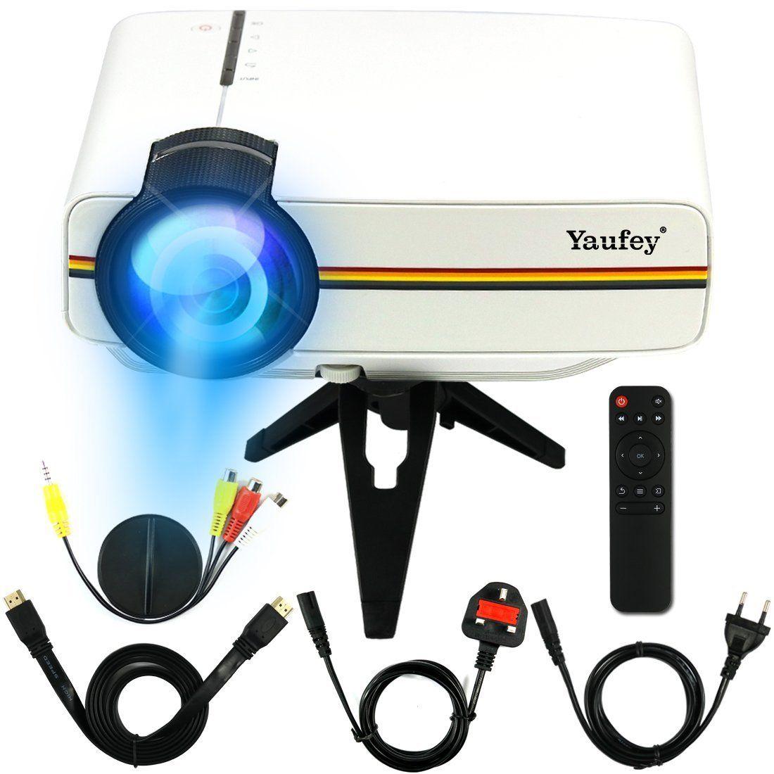 Yaufey® 1200 lumens Mini LED Projector Multimedia Home