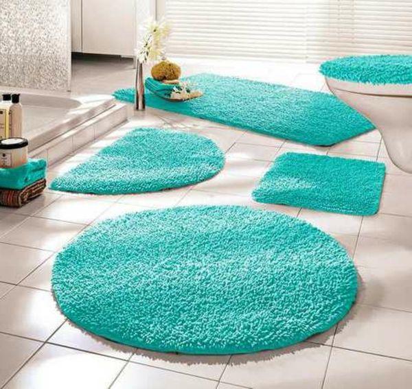 Badematten Türkis badematte füs das badezimmer tolle beispiele http archzine de