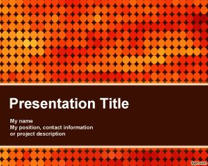 Nightclub Powerpoint Template Is A Free Orange Template For