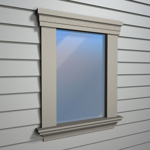 Exterior window trim google search for the home for Exterior window design