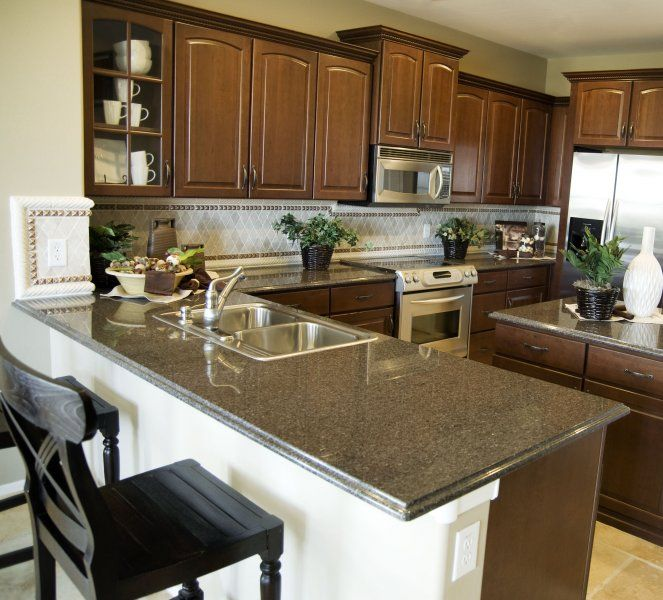 Small Kitchen With Peninsula Ideas Part - 48: Kitchen Backsplash