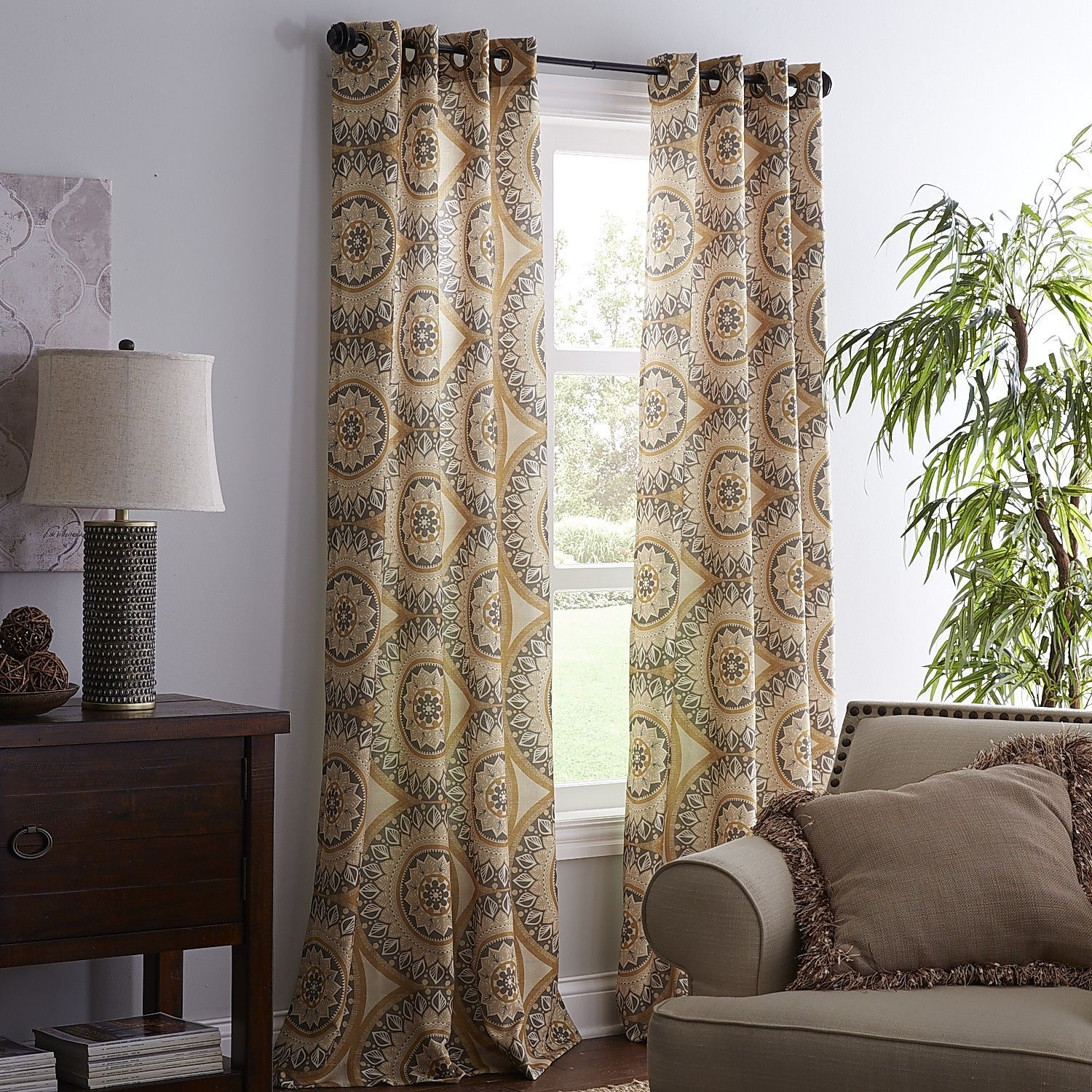 Awesome Suzani Curtain   Bohemian Circles   Pier One