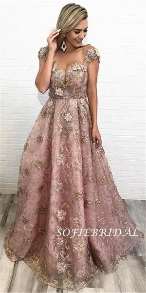 Aline Floorlength Cap Sleeves Appliques And Beading Long Prom Dresses, PD0123 Aline Floorlength Cap Sleeves Appliques And Beading Long Prom Dresses, PD0123 - Prom dresses for teens, Prom dresses long, Dresses, Prom dresses, Elegant dresses, Cheap prom dresses - Aline Floorlength Cap Sleeves Appliques And Beading Long Prom Dresses, PD0123 The dress is fully lined, 4 bones in the bodice, chest pad in the bust, lace up back or zipper back are all available, total 126 colors are available   This  dress could be custom made, there are no extra cost to do custom size and color  D