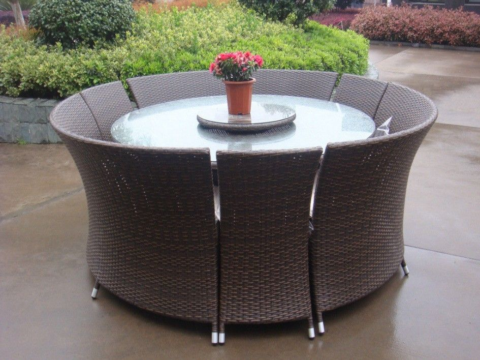 Terrific Waterproof Patio Furniture Covers For Large Round Glass Top Dining  Table With Small Plastic Planter