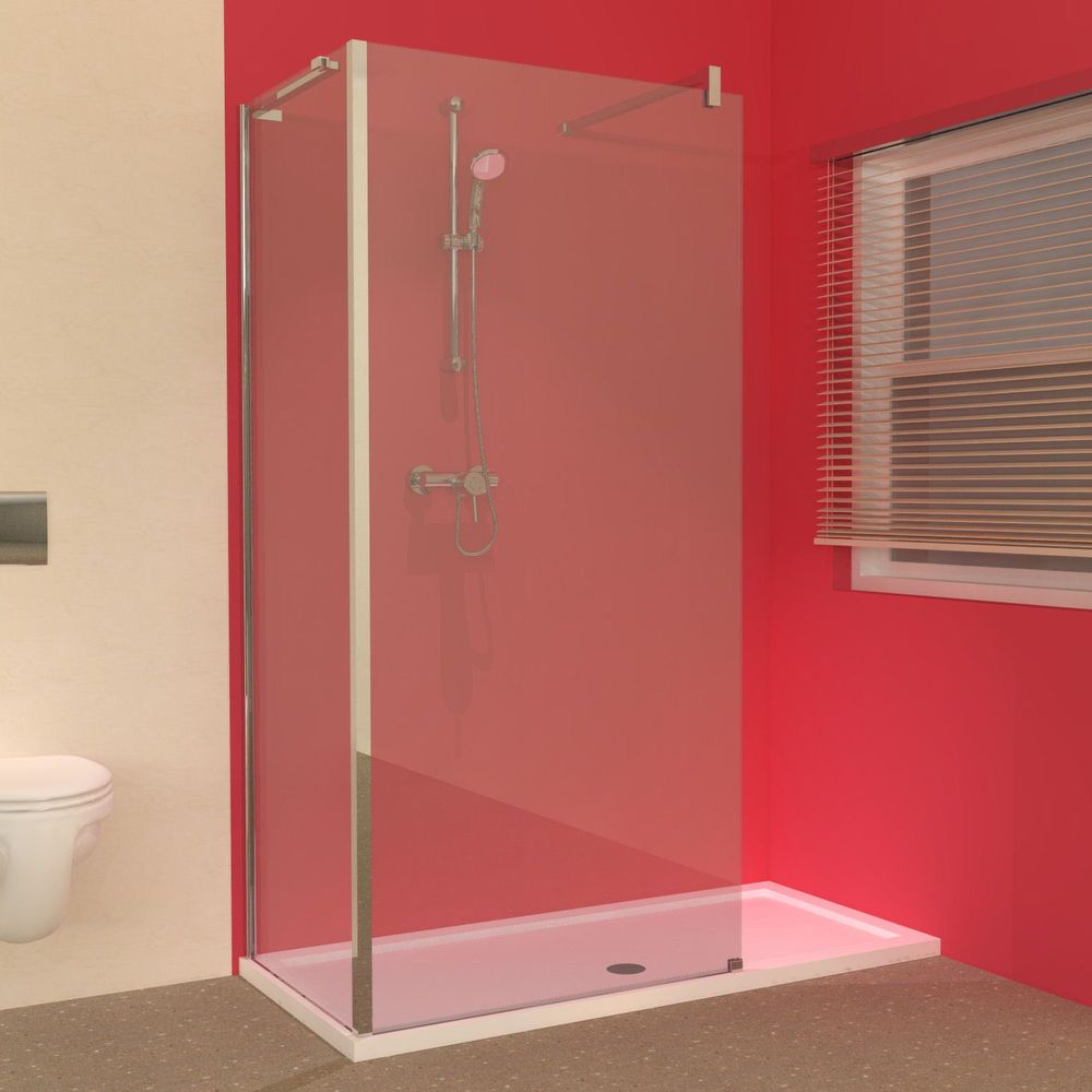 L Shaped Shower Tray Part - 21: The Line 1500 X 700 Shower Tray With Walk-