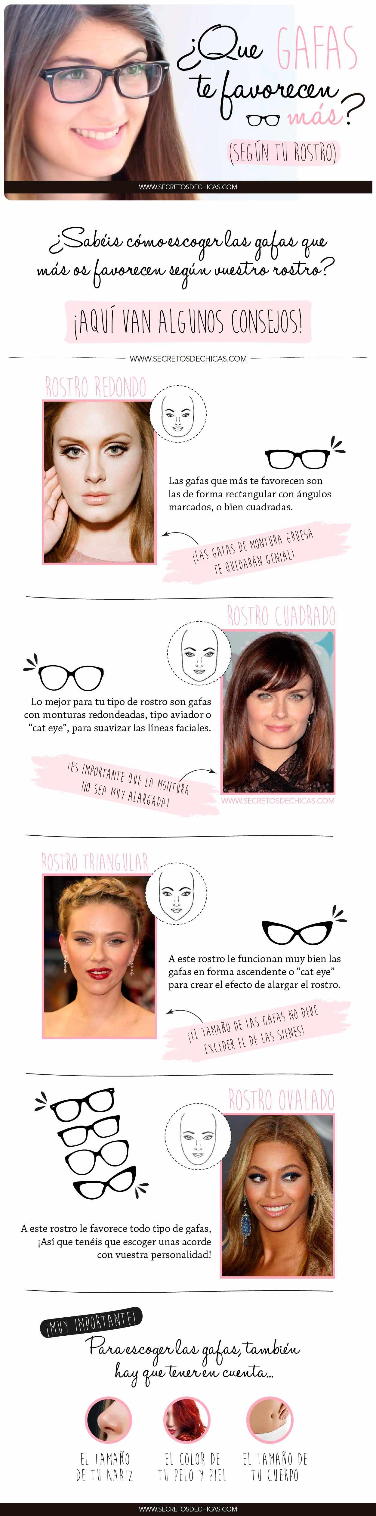 8f5e8a3d15 Hoy os traigo un post para saber qué gafas os favorecen según tu rostro, y
