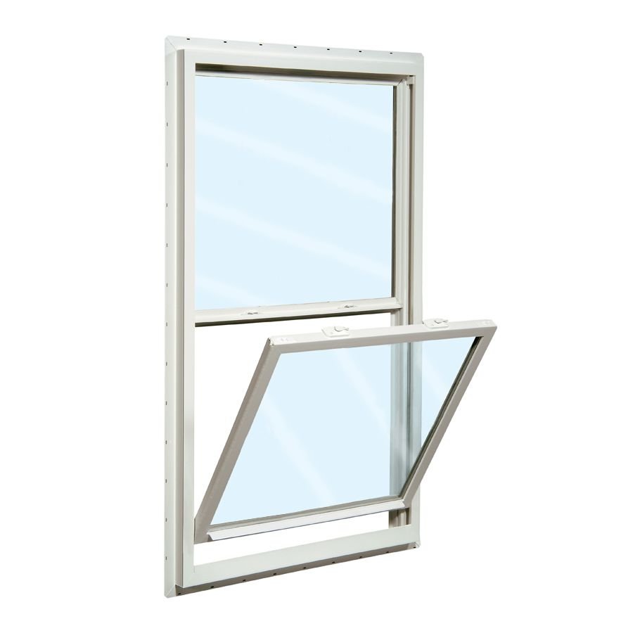 Reliabilt 150 Series 23 5 In X 35 5 In Vinyl New Construction White Single Hung Window Lowes Com Single Hung Windows Window Installation Window Replacement Cost