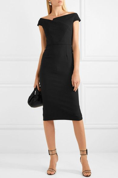 Darley Off-the-shoulder Crepe Dress - Black Roland Mouret dKquAkUnU