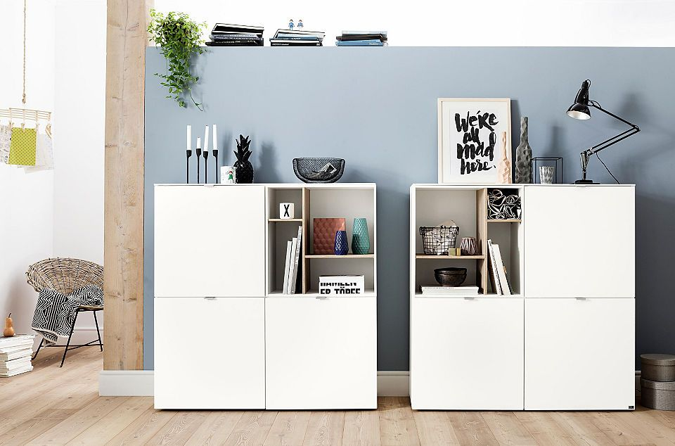 set one by Musterring Highboard »Colorado«, Front Hochglanz, offenes