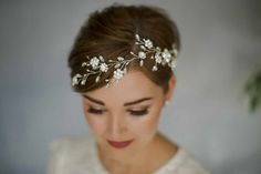 How To Style Wedding Hair Accessories With Short Hair, by Debbie Carlisle