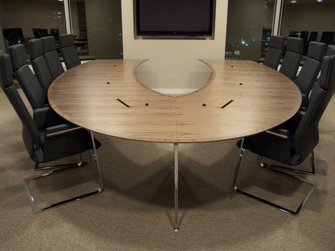 Omega Horseshoeshaped Media Conference Table Conference Rooms - Horseshoe conference table