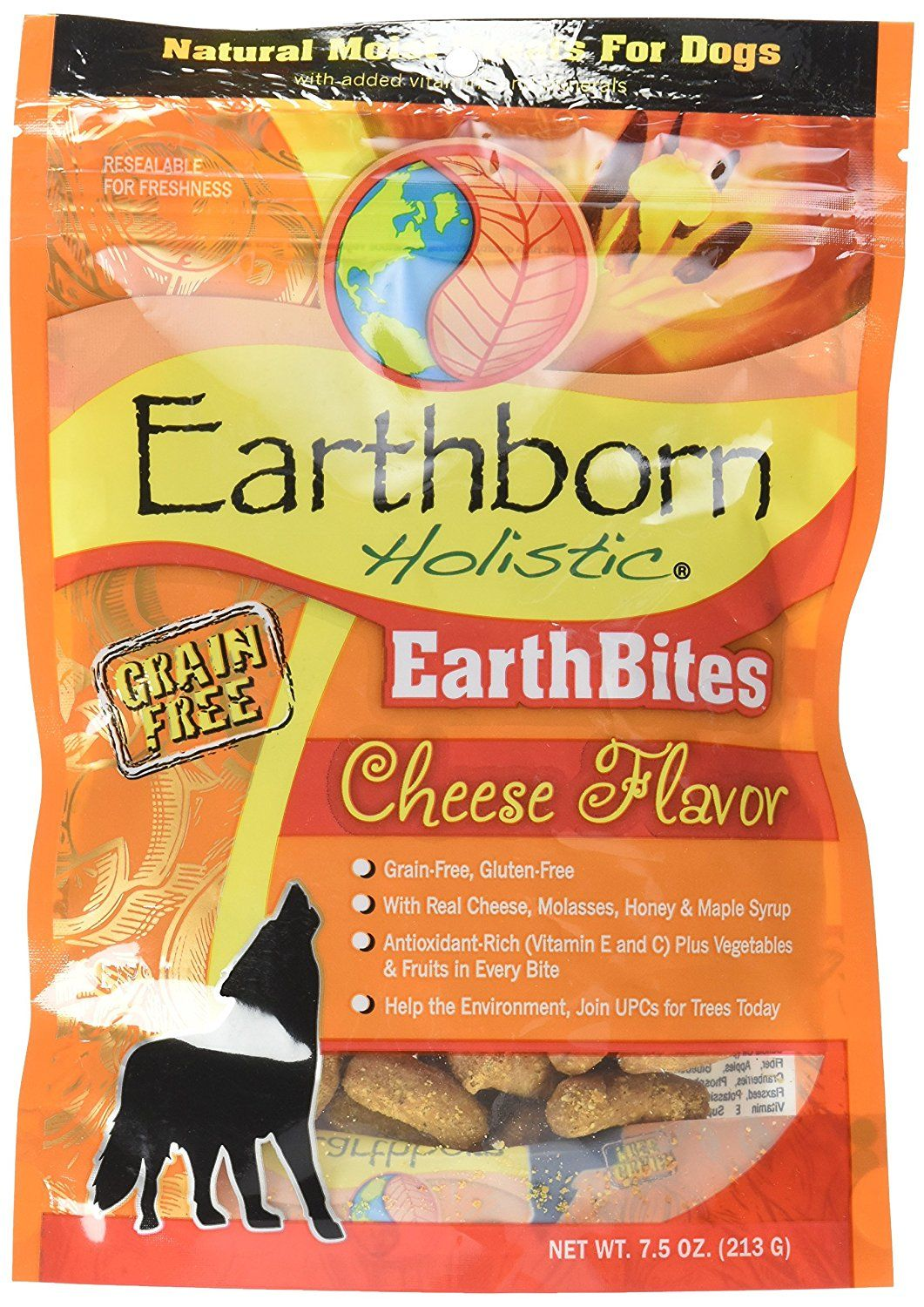 Earthborn Holistic Earthbites Cheese Flavor, 7.5oz ** To