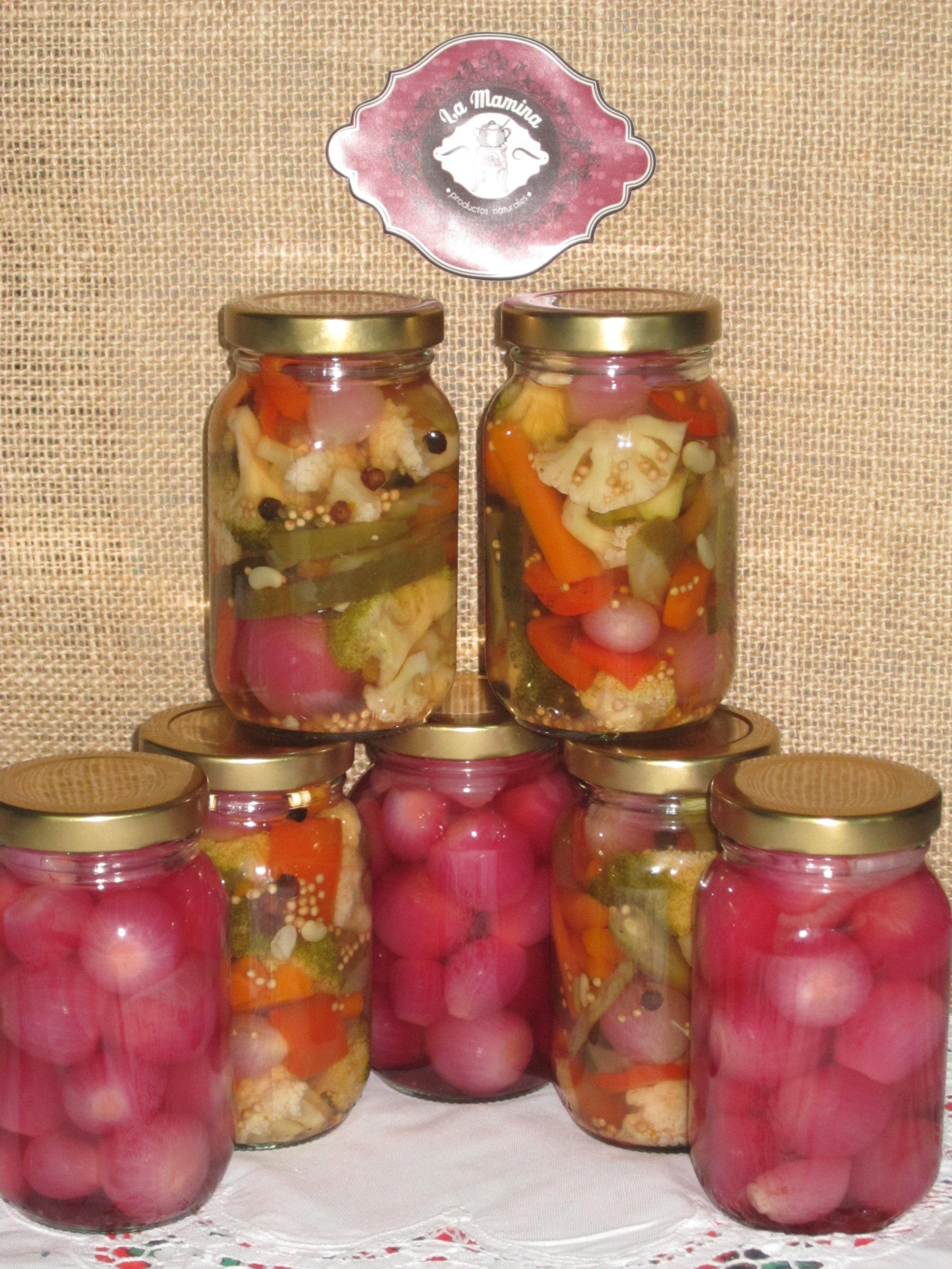 Encurtidos Mixtos Y Cebollitas Encurtidas Mason Jars Homemade Jar