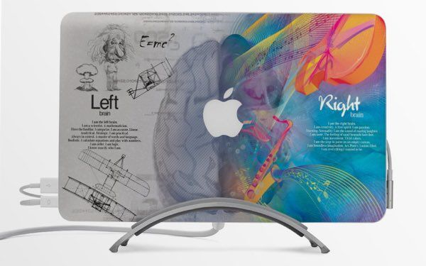 Think different macbook decal a beautifully designed colorful decal custom made for macbooks easy to install with special cut out for the apple logo on