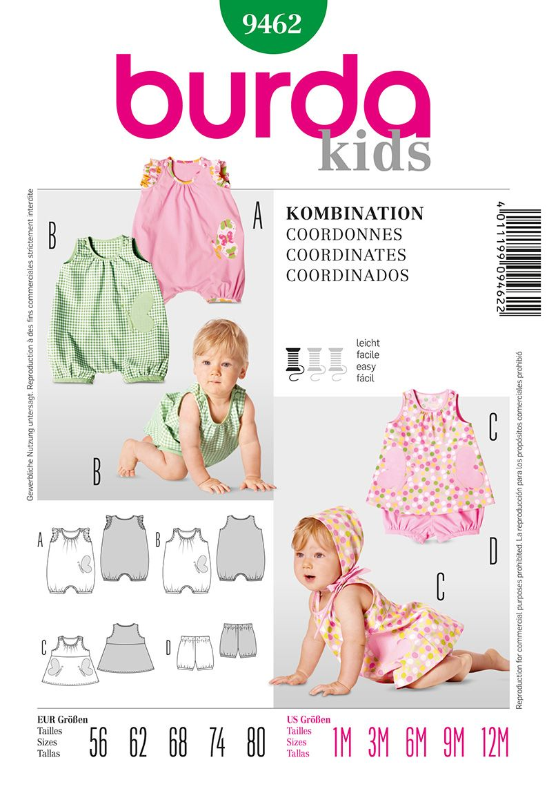 Burda 9462 Baby Jumpsuit, Panties, and Dress | Mattie sewing ...