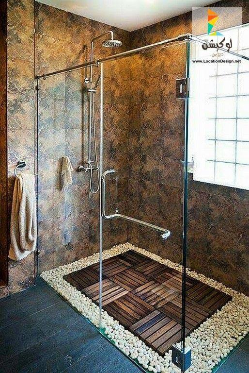 أحدث ألوان ديكورات حمامات 2017 2018 بأفكار ستساعدك فى تنسيق ديكور حمام منزلك لوكشين ديزين نت Custom Shower Shower Tray Shower Design