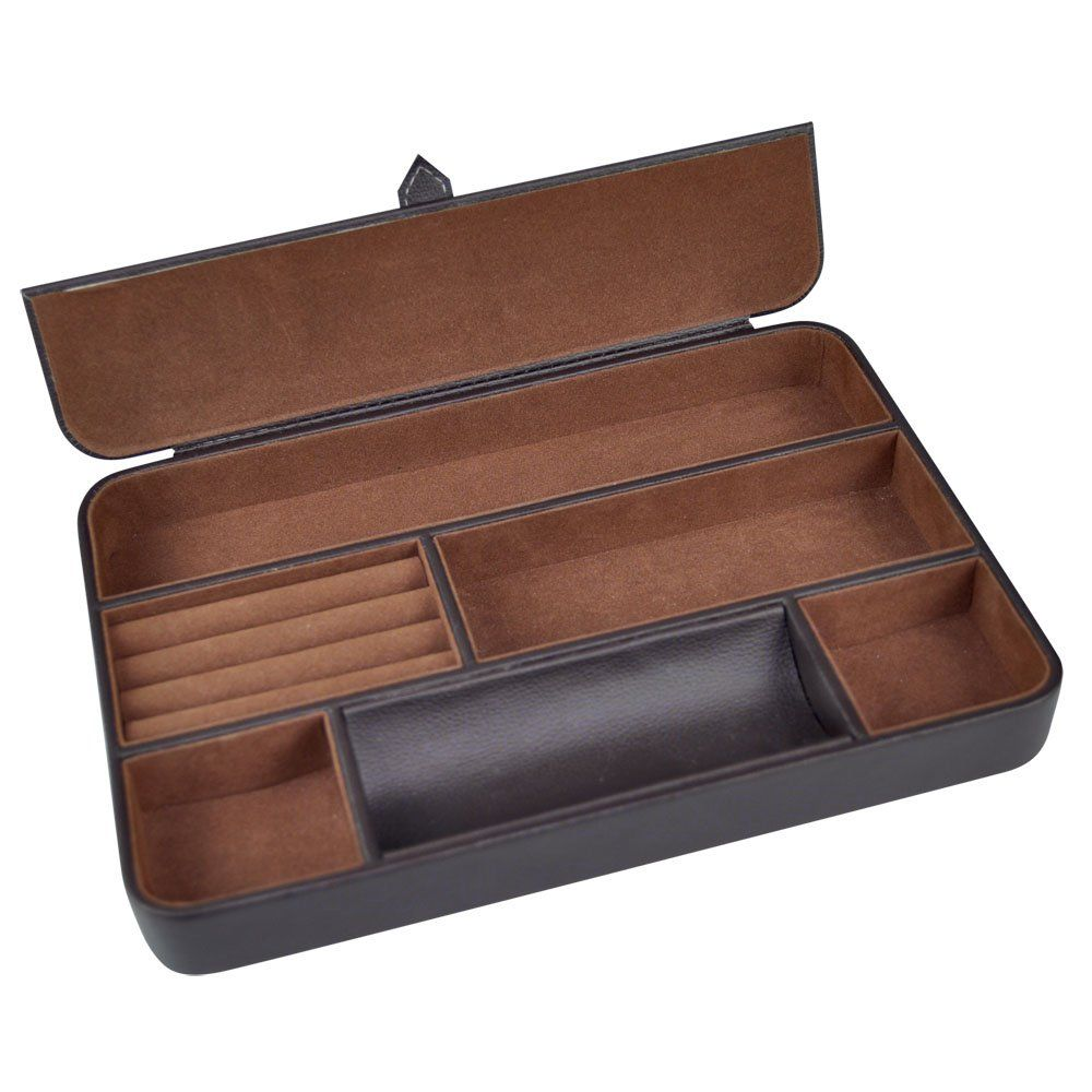 Perfect for storing daily essentials such as keys glasses Watches and wallets Leather Valet Tray Medium MINT suede interior Home Decor