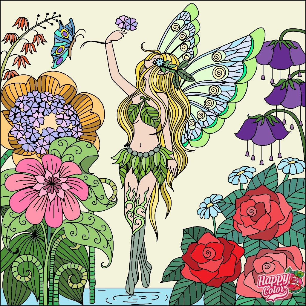 Pin by Victoria Kastanis on Art Work Fairy coloring
