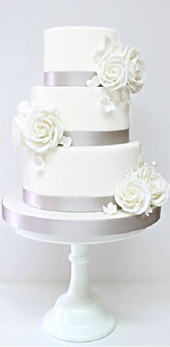 elegant white and silver wedding cakes wedding cake silver weddings silver grey elegance 13999