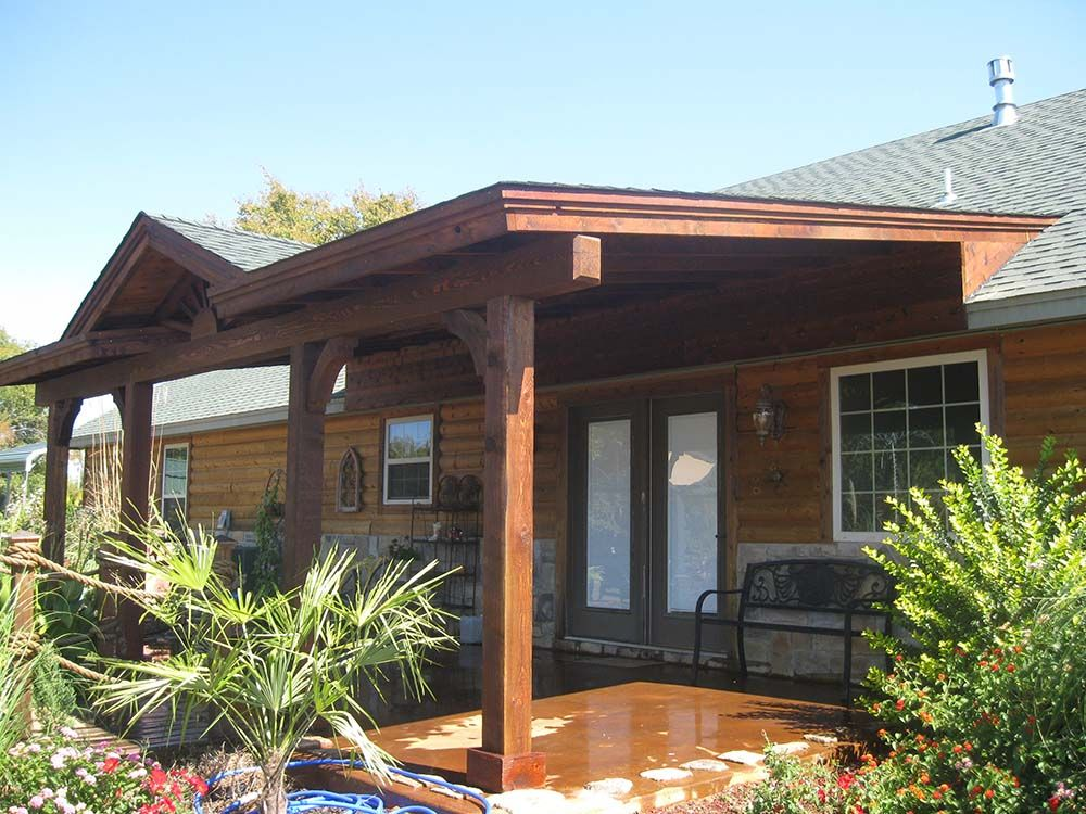 Superb Corbel Deck Patio Cover · Covered PatiosBackyard ...