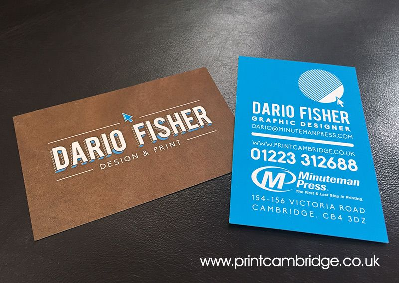Graphic Designer Business Card For Dario Fisher Minuteman Press Cambridge Graphic Design Business Card Business Card Design Examples Of Business Cards