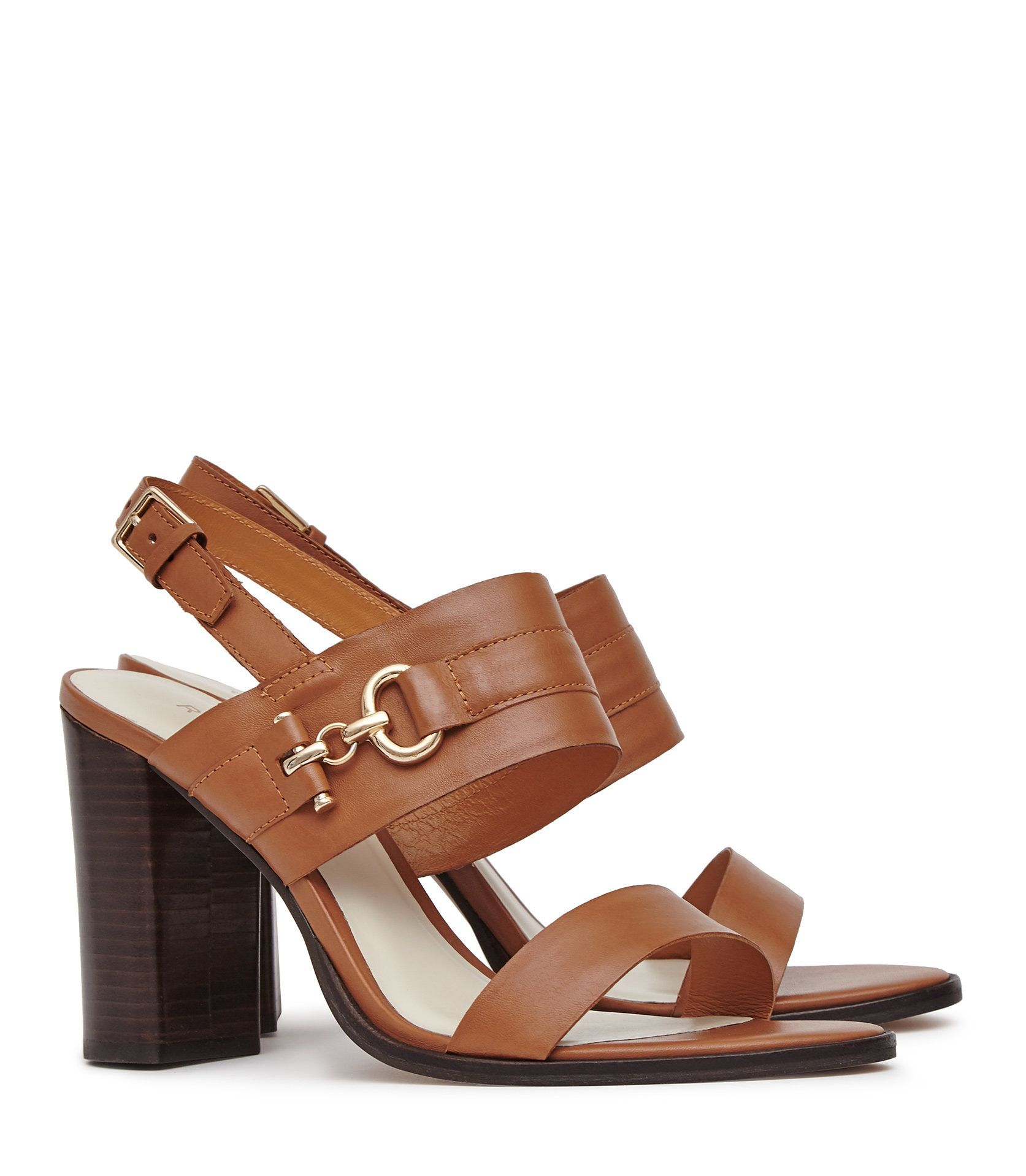 d0e49e86a6dc Adelina Tan Block-Heel Sandals - REISS   The adelina block-heel sandals in  tan plays its part in our iconic shoes collection and is available to buy  online ...