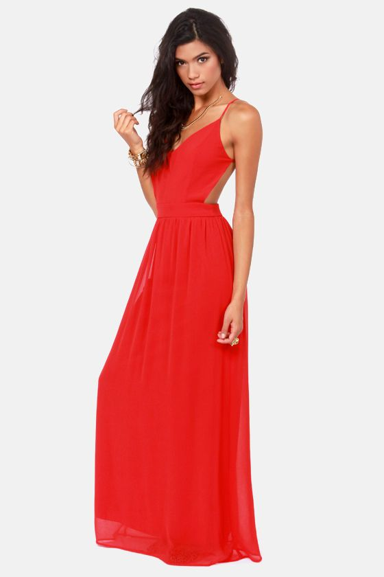 3e10395dcad LULUS Exclusive Rooftop Garden Backless Bright Red Maxi Dress at Lulus.com!